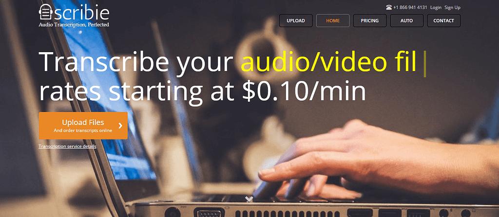 Scribie Audio Video Transcription Starting at 0 10 min 1