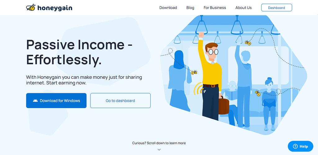 Passive Income Effortlessly Honeygain