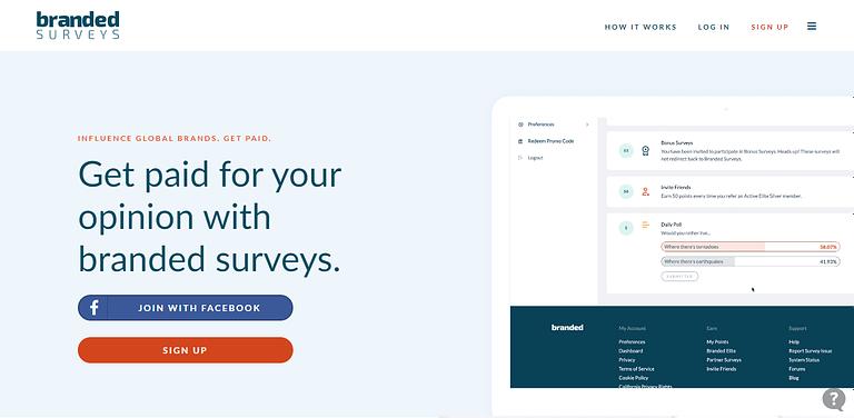 Make Money with Online Surveys Branded Surveys
